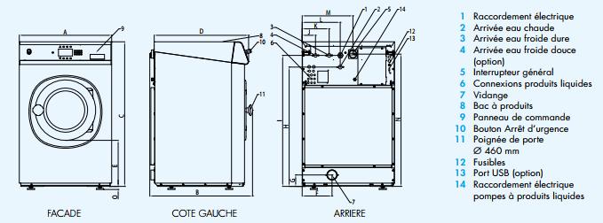 Machine à laver essoreuses TDCA FX aqua